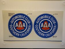 2 NEW AAA Automobile Club STICKER Decal Southern California.  (reflective)