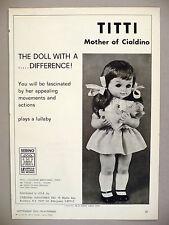 Titti, Mother of Cialdino Doll PRINT AD - 1972 ~ Sebino La Bambola dolls