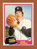 1981 Topps Jack Morris Card #572 NM/MINT - Tigers HOF