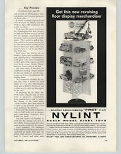 1963 Paper Ad Nylint Toy Trucks Displayed on Store Display Rack Stand Dump Crane