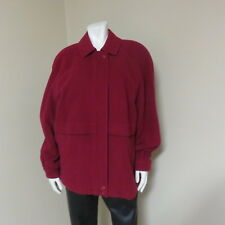 BURBERRY Ladies Designer Cashmere & Wool Red Fall/Winter Coat Jacket EUC SIZE 12