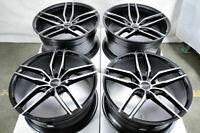 20 Staggered Wheels Mercedes C230 C280 C350 E320 E500 S500 S600 Black Rims 5x112