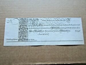 Colonial Currency Maryland 1733 1s 6d 1st issue Very Fine-Extremely Fine