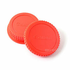 Red Color Camera Body Cover + Rear Lens cap for CANON EOS EF EF-S