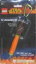 Star Wars LEGO Connect and Build Chewbacca Clip Pen KeyChain 2005, NEW UNUSED