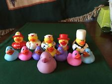 5 First Responder And 6 Spring Colors Rubber Ducks