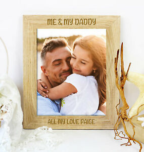 Personalised Me And My Daddy Photo Picture Frame Fathers Day, Birthday Gift
