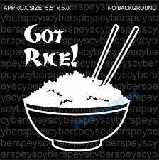 Got Rice? Drift Racing JDM Design Car Vinyl Decals/Stickers