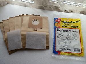 5 x Electrolux Bags & Filters E59 & U59 The Boss Range B3300, B3306, B3310 Etc