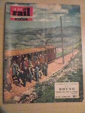 LA VIE DU RAIL n°349 / 19 mai 1952 CF à crémaillère de la RHUNE. ST IGNACE.