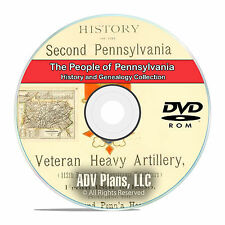 Pennsylvania PA, People and Family History and Genealogy 91 Books DVD CD B11