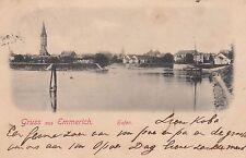 Gruss aus Emmerich AK 1902 Hafen Kirche Nordrhein-Westfalen 1704033
