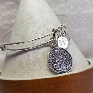 Alex & Ani Path of Life🎄 Silver Charm  expandable  Bangle Bracelet Wrap 🦃 2
