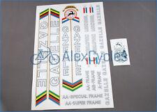Vintage Rare White with Black GAZELLE Restoration Decals Kit + Gift Stickers