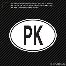 PK Pakistan Country Code Oval Sticker Decal Self Adhesive Pakistani euro
