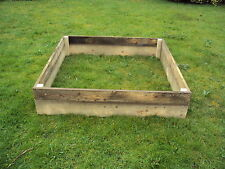 Raised Wooden Bed Planter for growing vegetables 1.2M x 1.2M (30cm high)