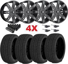 Dub Black Wheels Rims Tires 265 40 22 Explorer Luxury Oem Oe Lexani Forgiato