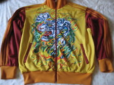 Ed Hardy by Christian Audigier Tattoo Tiger Dragon Track Jacket L Large