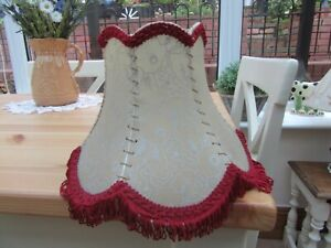 Pretty Vintage Ivory Plastic Table Lamp Shade