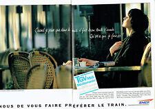 Publicité Advertising 068  1995   SNCF train TGV  midi-méditerranée  (2p)