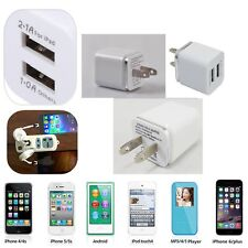 Universal 2.1/1A 2 Ports Travel Dual Port AC USB Wall Charger for iPhone Samsung