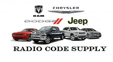 CHRYSLER JEEP DODGE radio code Supply Déverrouillage Code Service Rapide!!!