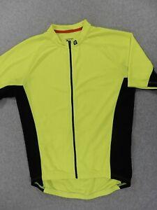 Bontrager Semi Fitted Full Zip Cycling Jersey (Mens Medium) Neon/Black