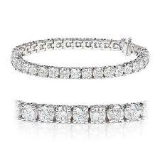 """White Gold Excellent 7.5 - 7.99"""" Fine Diamond Bracelets"""
