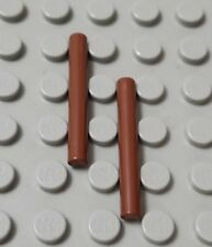 LEGO New Lot of 2 Reddish Brown 3L Minifigure Sword Bar Weapon Pieces