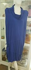 ts royal blue jersey dress.SzS/14-16.Wear alone or layer.As new