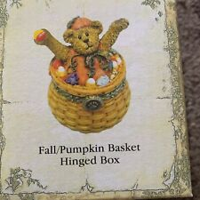 Vintage 392141Lb Boyds Longaberger Treasure Box Fall / Pumpkin Basket