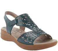 BareTraps Perforated Leather wedge Sandals Jordy pick size color new