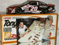 1999 Tony Stewart Home Depot Fan Club AUTOGRAPHED COLOR CHROME 1/24 W/PHOTO