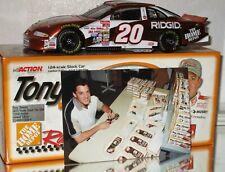 1999 Tony Stewart Home Depot Fan Club AUTOGRAPHED COLOR CHROME 1/24 W/PHOTO