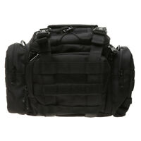 Military Trekking Camping Molle Shoulder Bag Waist Pack Handbag Black