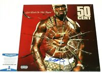 RAPPER 50 CENT SIGNED 'GET RICH OR DIE TRYING' VINYL ALBUM RECORD LP BECKETT COA