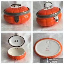 Vintage Bonbonnière en porcelaine orange , boîte boite à bijoux