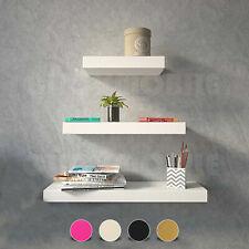 Set of 3 MDF Floating Shelves Bookshelf Wall Mount Shelf Display Home Decor