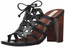 COLE HAAN women CLAUDIA HIGH DRESS SANDAL Lace-Up W02668 BLACK LEATHER size 7.5