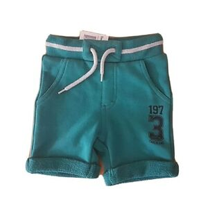 TIMBERLAND Baby Boy Green Jersey Bermuda Shorts NWT size 3 6 months