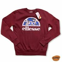 Men's Maroon Red Retro 90s Style Pull Over Ellesse Heritage Sweater Size M BNWT