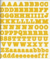 Creative Memories LARGE BOLD ABC / 123 Stickers - GOLD / YELLOW
