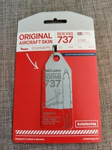 Aviationtag Jet2 Boeing 737 G-CELH Red and Grey Bi Colour
