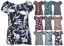 Casual Tie Neck Floral Tops & Shirts Plus Size for Women