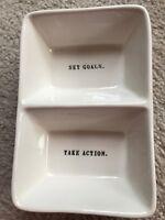 Rae Dunn Artisan Collection Magenta Divided Bowl New Gift No Box