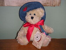 """Boyds Bears Chenille 2002 ~6"""" Alice B. Patchbeary~ Best Dressed Series"""