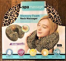 Spa Massage Memory Foam Neck Massager Vibration Batteries Req Nwt leopard