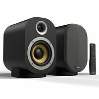 Hi-Fi Bookshelf Speakers Pair, Compact 40W Active + 20W Passive Bluetooth