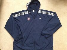 VINTAGE ADIDAS CHICAGO FIRE MLS SOCCER HOODIE LIGHTWEIGHT JACKET MEN XL