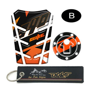 Motorcycle Tank Pad Tank Protector Stickers Keychain For KTM DUKE 390 2017 2018